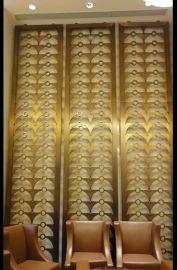 两边拼接拉丝古铜造型不锈钢屏风