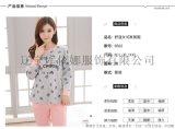 库依娜新品睡衣秋季长袖家居服套装全棉女士8502