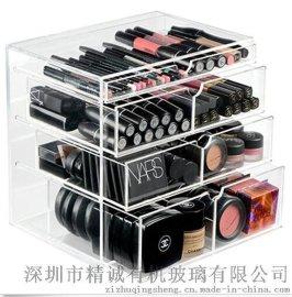 透明亚克力化妆品收纳盒 有机玻璃展示盒 亚克力化妆盒