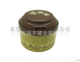 马口铁纸拉环封口云南烟丝盒 圆形拍底凸盖茶叶铁盒 高档茶叶罐