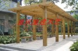 重庆贵州四川各风景区寺庙仿古长廊实木木屋门窗花窗长廊花箱花桶