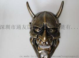 通友国际树脂面具 日本般诺铜色面具批发定制