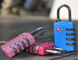 TSA309鋅合金4位密碼輪海關箱包掛鎖