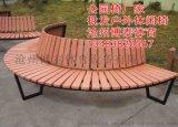 河南博泰戶外休閒椅園林座椅廠家直銷公園廣場實木座椅