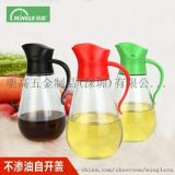 明高新品X952厨房不渗油自开盖油壶带刻度玻璃调味瓶罐酱油瓶醋瓶