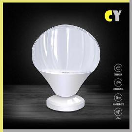 新奇特創意智慧家居臥室led小夜燈 亞馬遜歐式高端禮品小臺燈
