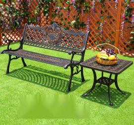 青島戶外公園椅 高小區戶外休閒椅 別墅花園桌椅