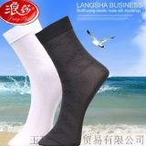 浪莎正品男士有跟薄丝袜 透气耐穿商务中筒袜 独立包装