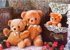 厂家订制泰迪熊公仔 可爱小熊 毛绒小熊价廉来图定制