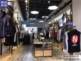广州新款服装货架搭配优势 新款KM货架 服装展柜