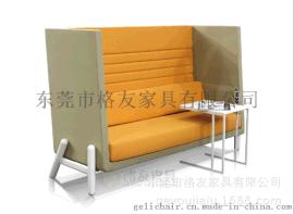 高档高背洽谈沙发,接待厅休闲沙发椅接受订制