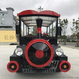 8座电动小火车景区旅游观光小火车无轨观光电动小火车