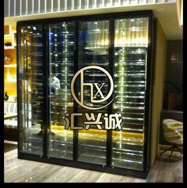匯興誠hxc-jg廠家熱銷歐式不鏽鋼酒櫃