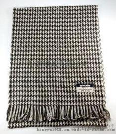 千鳥格紋圍巾保暖舒適透氣