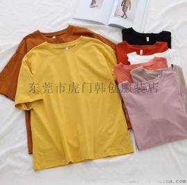 厂家清货特价女士T恤夏季短袖女装上衣纯棉t恤5元