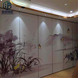 家居隔斷屏風 中式移動隔牆 壁畫圖掛屏風