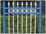 喷塑锌钢围栏,三横栏带花环喷塑方钢管隔离栏,锌合金庭院护栏