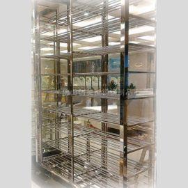 【訂做各種不鏽鋼酒架 】不鏽鋼鈦金紅酒架  簡易葡萄酒架