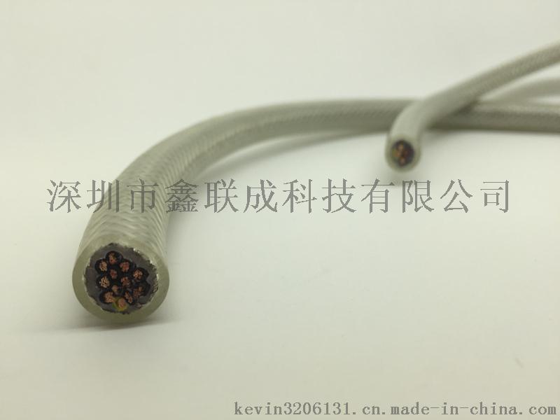 研磨玻璃电吸磁盘双护套屏蔽透明电缆 电永磁控制器专用透明电缆