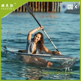 瑞思凯 pc耐力板海岛休闲PC透明船皮划艇 双人 clear kayak 摄影