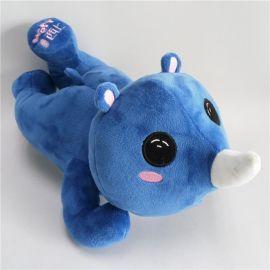 毛绒玩具犀牛玩具 卡通动物犀牛毛绒公仔 情侣犀牛毛绒玩偶促销