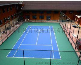 特美莱硅PU网球场地施工 艾可思丙烯酸网球场施工 厂家直销