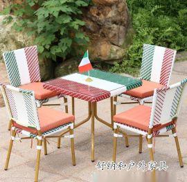 湛江售楼部户外桌椅 别墅休闲花园桌椅