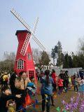 户外木制风车 户外风车  景观园林风车