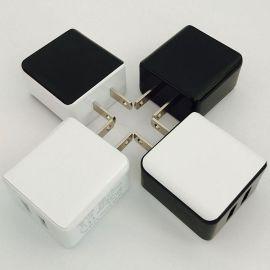 充電頭2A美規充電器 雙口usb充電器2A充電頭 3c數碼通用usb充電器