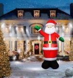 新品圣诞节装饰品1.8米充气圣诞老人圣诞雪人场景化装cos道具服装