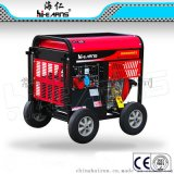 DG6000E3186FA动力三相客户定制款带4个10寸轮柴油发电机