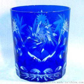 套皮雕刻玻璃口杯系列 耐用优质玻璃杯批发 厂家直销玻璃口杯供应