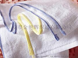 賓館酒店毛巾批 如家酒店黃藍邊全棉面巾純棉