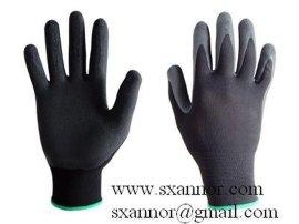 黑色乳胶发泡手套