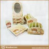 高档贴木纹纸木质整套梳妆盒