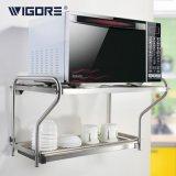 威格乐 微波炉置物架壁挂厨房置物架不锈钢烤箱架双层微波炉架子