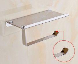 多功能置物架 卫浴五金挂件 不锈钢小卷纸架