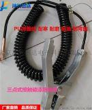 供应北京坤兴盛达PU螺旋线静电接地线夹 静电报警器接地夹子独立式静电接地夹