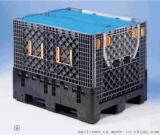 重型折叠箱超大型托盘式卡板箱塑料可折叠周转箱1200*1000*975