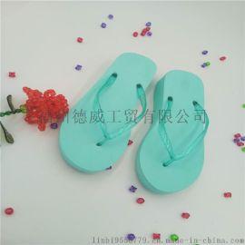 時尚女士夏季中跟人字拖簡約透氣夾腳拖鞋防滑夾拖沙灘涼潮拖鞋
