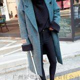 2016韓版冬季新款 寬鬆大碼加厚繭型大翻領呢子大衣中長款外套