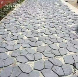 天然青石板文化石不规则地砖碎拼马赛克冰裂纹网贴岩板公园铺路砖 修改