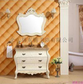 欧式浴室柜新款实木橡木组合
