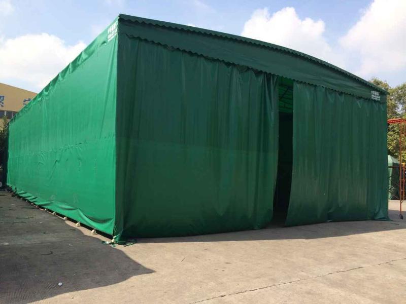 雨棚厂家直销大型排档推拉雨棚活动伸缩帐篷折叠移动停车雨篷图片