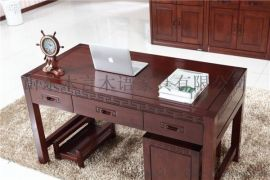 品牌實木家具中式高檔實木電腦桌木言木語