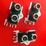 現貨供應音頻插座 RCA座子 AV插座 1*2孔 插板式 帶鏍絲孔