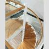佛山尚步梯業 SBlt-062 鋼木旋轉樓梯
