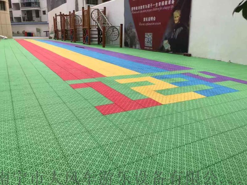 南宁幼儿园专用悬浮地板 南宁室外运动悬浮地板图片