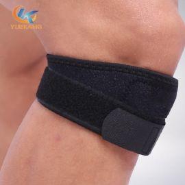 海綿加壓髕骨帶 綁帶式加壓運動護膝 舉重跑步運動護具定制生產