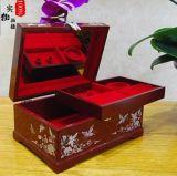 天水飞天漆器结婚梳妆盒送礼大漆首饰盒收纳雕漆22贝雕首饰盒